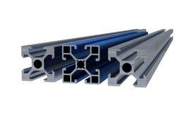 Plusieurs profil en aluminium illustration libre de droits