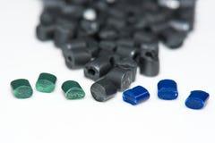 Plusieurs résines teintes de polymère Image stock