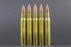 Plusieurs ronds ballistiques de fusil d'astuce Photos libres de droits
