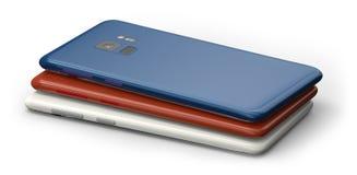 Plusieurs smartphones génériques Photo libre de droits