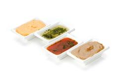 Plusieurs types de sauce Image libre de droits