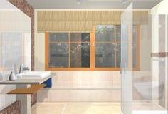 Plusieurs vues de salle de bains de luxe Photographie stock libre de droits
