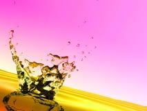 plusk kolorowa wody. Fotografia Royalty Free