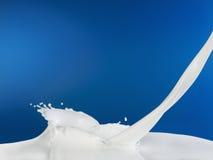 plusk mleka Obrazy Royalty Free