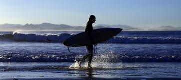 plusk surfera Zdjęcia Royalty Free