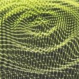 Pluskoczący tło szablon Abstrakcjonistycznej nauki lub technologii ilustracja z cząsteczką 3D siatki powierzchnia Może używać dla ilustracja wektor