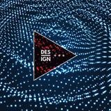 Pluskoczący tło szablon Abstrakcjonistycznej nauki lub technologii ilustracja z cząsteczką 3D siatki powierzchnia royalty ilustracja
