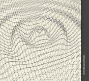 Pluskoczący tło szablon Abstrakcjonistycznej nauki lub technologii ilustracja z cząsteczką 3D siatki powierzchnia ilustracja wektor