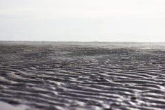 Pluskocze piasek na plaży, Czarny I Biały fotografia Fotografia Stock