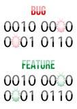 Pluskwa w oprogramowanie kodu projekta pojęciu Obraz Stock