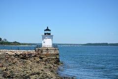 Pluskwy latarnia morska w Maine fotografia stock
