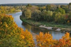 Pluskwy rzeka w jesieni Obraz Stock