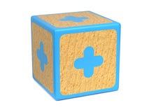 Pluszeichen - das Alphabet-Block der Kinder. Lizenzfreie Stockbilder