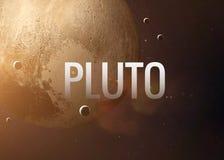Pluto ενθαρρυντική επιγραφή στο υπόβαθρο Στοκ Εικόνα