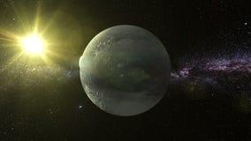 Pluto τρισδιάστατο κείμενο γύρω από τον πλανήτη Pluto απόθεμα βίντεο