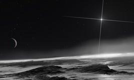 Pluto e Charon Immagine Stock