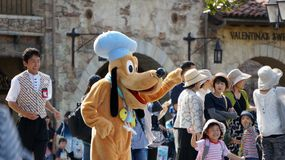 Pluto Greets Guests at Tokyo Disneysea Royalty Free Stock Photography