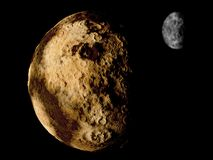 Pluto and its moon Charon, 3d illustration royalty free illustration