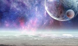 Pluto-Planet Gemischte Medien stockfoto