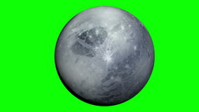 Pluto planet with green screen Stock Photo