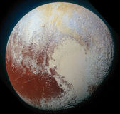 Pluto Planet in solar system cosmic space Royalty Free Stock Image