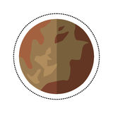 pluto planet space shadow Royalty Free Stock Images