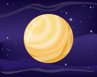 Pluto Planet. Sun System. Universe. Vector. Stock Image