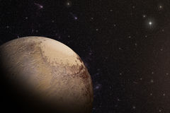 The Pluto shot from space Royalty Free Stock Photography
