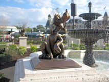 Pluto Statue. ORLANDO, FLORIDA - March 5, 2015 - The Pluto statue in its new location in the new hub of Magic Kingdom, Walt Disney World Stock Photo