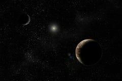 Pluto y Charon Imagenes de archivo
