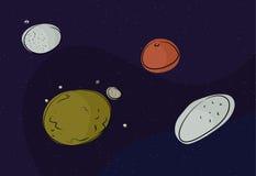 Pluton et d'autres planètes naines Illustration Stock