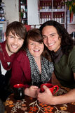 Plutonic. A plutonic love triangle at a coffee house Stock Image