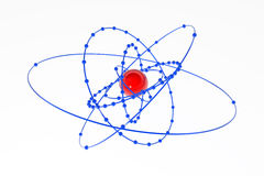 Plutonium Atom. Isolated 3d atom model, over white, horizontal Stock Photography