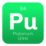 Plutonium chemical element Royalty Free Stock Photography