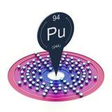 Plutonium element stock illustration