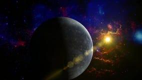 Plutoplaneet in ruimte stock footage