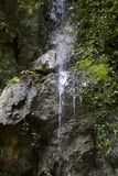 Pluvial waterfall. In hell valley matese park italy Stock Photography