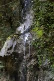 Pluvial waterfall. In hell valley matese park italy Royalty Free Stock Photos