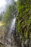 Pluvial waterfall. In hell valley matese park italy Stock Photo