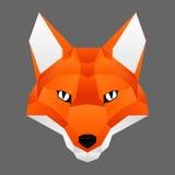 Plygon fox face. Poygon orange smilling fox face Royalty Free Stock Image