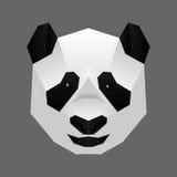 Plygon panda face. A Poygon  smilling panda face Royalty Free Stock Photography