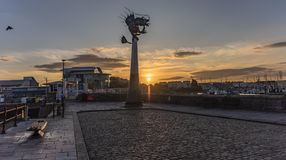Plymouth Barbican at sunrise in England UK royalty free stock image