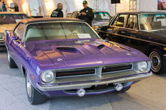 Plymouth Barracuda convertible on display Stock Photo