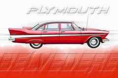 Plymouth-Belvedere Lizenzfreie Stockfotos