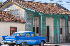 Plymouth car in Cuba royalty free stock photos