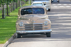 Plymouth 1950 chevrolet, retro car. Porvoo, Finland - July 25, 2015: Plymouth 1950 chevrolet, retro car. This will improve your sales Stock Image