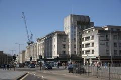 Plymouth city centre buildings. Devon UK royalty free stock photo