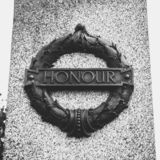 Plymouth City War Memorial Wreath with Honour Plaque. Plymouth, England - Sep 12, 2018: Plymouth City War Memorial Wreath with Honour Plaque, Shallow Depth of royalty free stock image