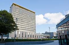 Plymouth Civic Centre from the Theatre Royal Royalty Free Stock Photo