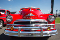 1950 Plymouth. CONCORD, NC — September 24, 2016: A 1950 Plymouth automobile on display at the Pennzoil AutoFair classic car show held at Charlotte Motor royalty free stock image